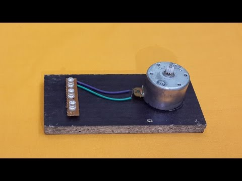 Turn a DC Motor into a Simple Electric Generator