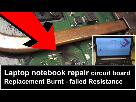 Laptop notebook TOSHIBA REPAIR motherboard Burnt failed Resistance