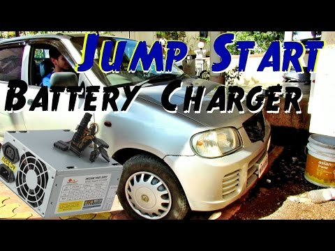 Car Battery Charger 🚘 🔋🔌 - Charge Batteries at Home & JumpStart in 5 Minutes