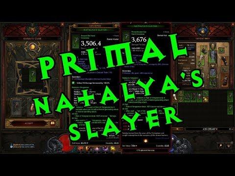 Diablo III Season 12 - Crafting a Primal Ancient Natalya's Slayer