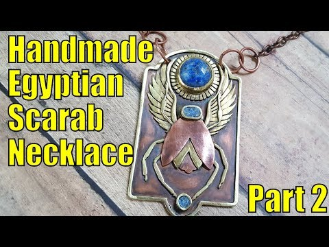Making a Egyptian scarab necklace by hand - Part 2