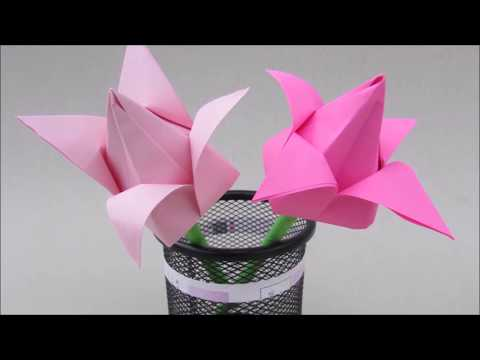 Tulip flowers origami: How to & Paper Craft Easy for beginner | Cindy DIY