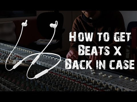 Beats X How to put back into the case