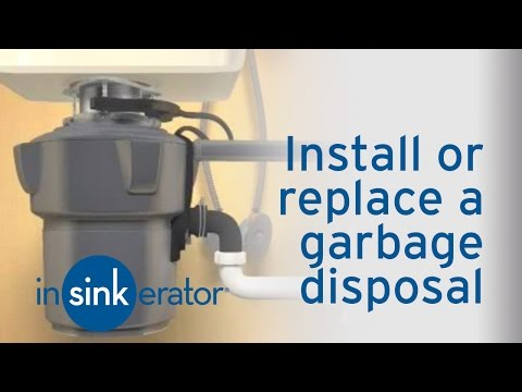 How to Install / Remove a Garbage Disposal - InSinkErator