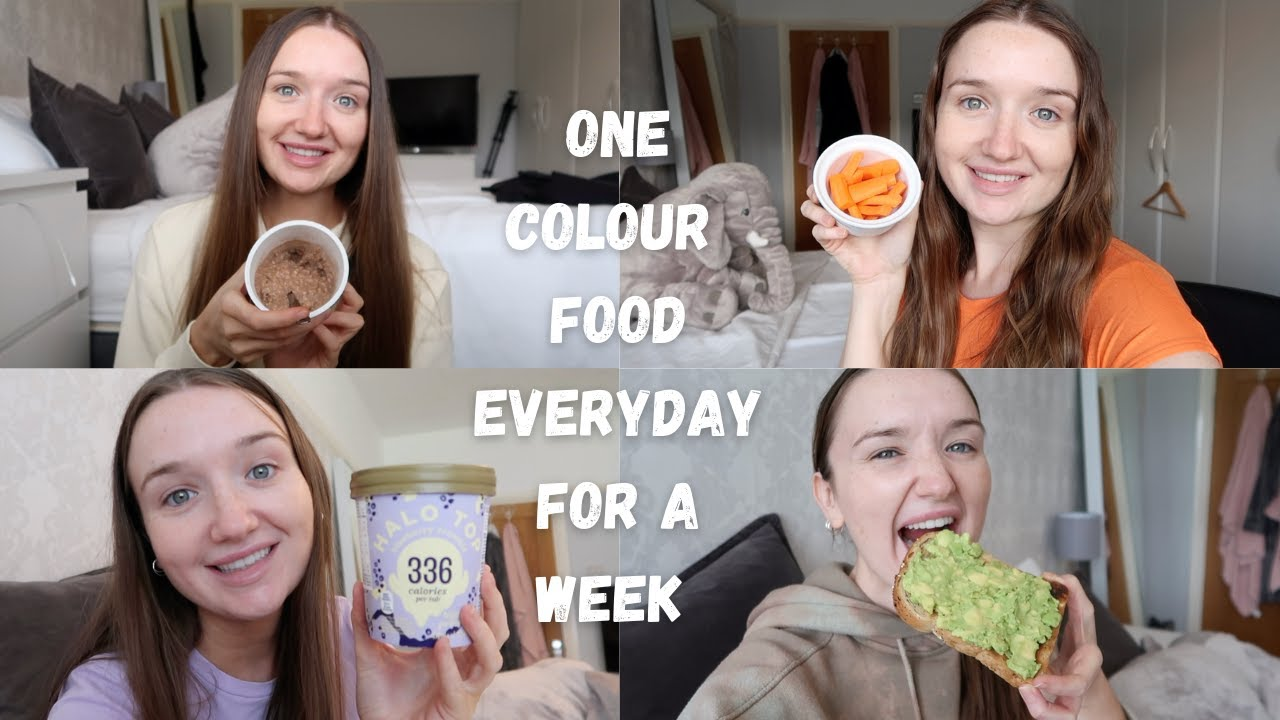 ONLY EATING ONE COLOUR FOOD A DAY FOR A WEEK  🌈