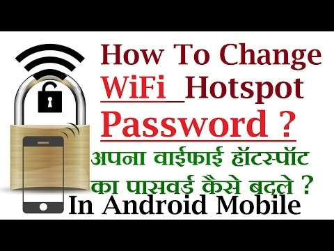 How To Change Wifi Hotspot password in Android [ Hindi Video ]