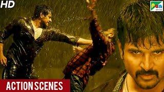 Daring Policewala (Kaaki Sattai) Action Scenes   New Hindi Dubbed Movie   Sivakarthikeyan, Sri Divy