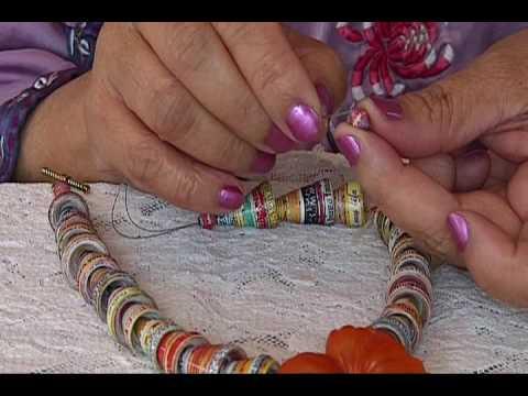 Part Two - Paper Cones Necklace.wmv