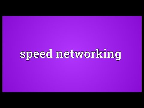 Speed networking Meaning