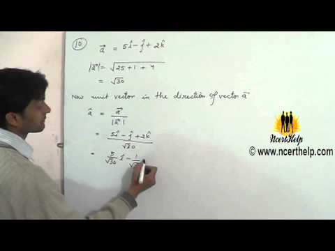 Find a vector in the direction of given vector which has magnitude 8 units