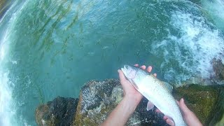 Rainbow trout fly fishing|Catching nice rainbows with streamer|Fly fishing Croatia