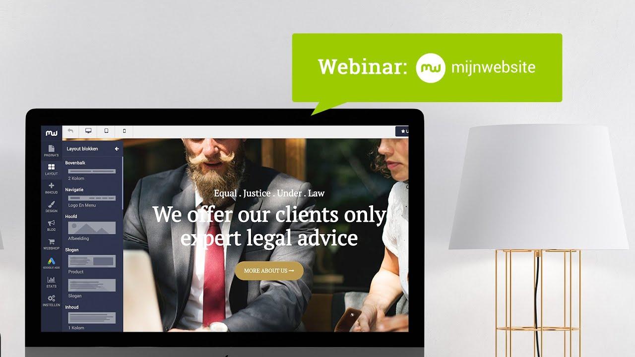 Webinar MijnWebsite - 17 december 2019