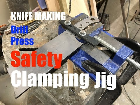 How to make a Knife Making Swing Arm Jig to secure blade into drill press vise