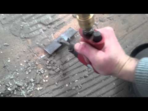Modified Air Chisel makes short work of floor cement removal