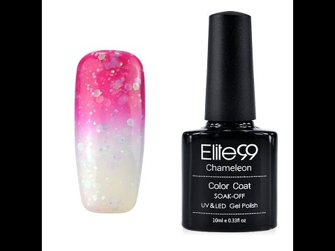 Elite99 Thermal Temperature Colour Changing Gel Nail Polish Tutorial