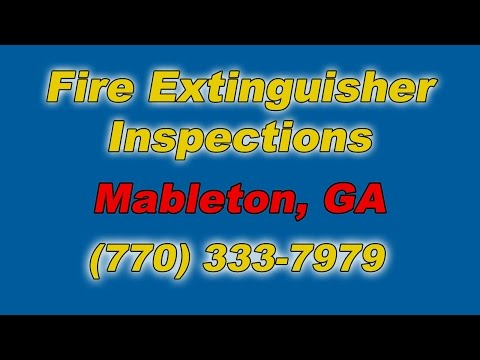 Fire Extinguisher Inspections Mableton GA
