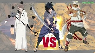 Rikudou Senni vs Sasuke e kiler bee duelo de gigantes
