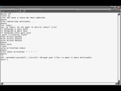How To Make a Fake Command Prompt Virus