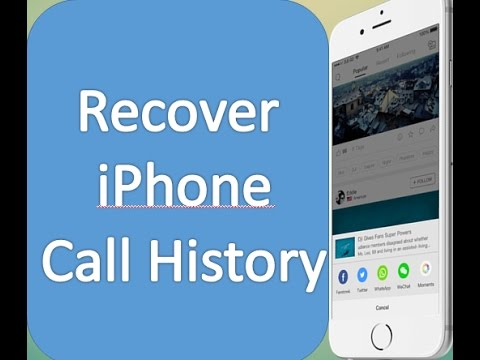 How to recover deleted call history iphone 7/7 plus/6/6 plus/6s