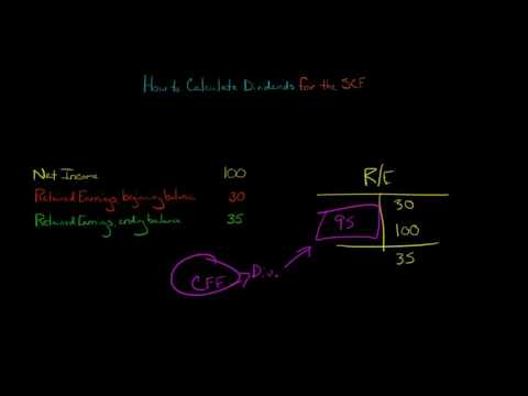 Statement of Cash Flows:  How to Calculate Dividends