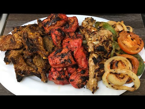 Mix Grill / Gold Chef Grill Review / lamb Chops / Chicken Tikka / Spicy Wings /grilled Vegetable