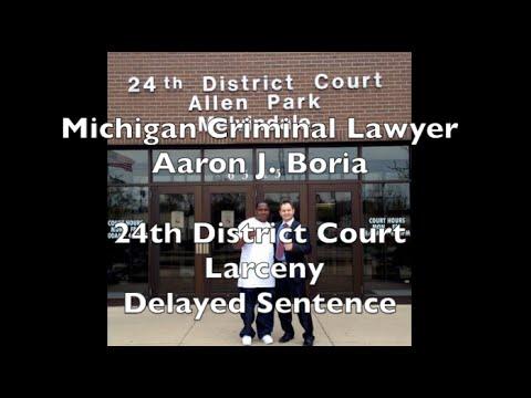 Allen Park Lawyer - Michigan Larceny Lawyer - 24th District Court