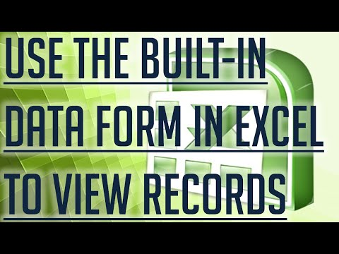 [Free Excel Tutorial] USE THE BUILT IN DATA FORM IN EXCEL TO VIEW ALL FIELDS FOR A RECORD - Full HD