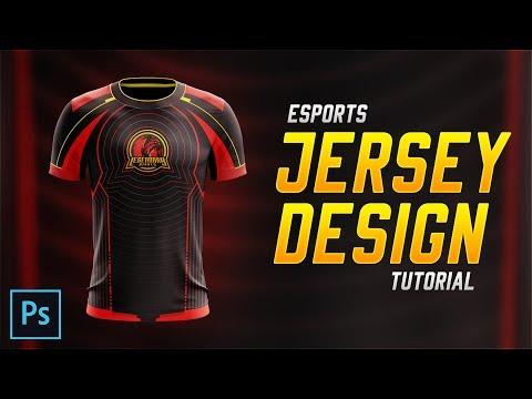 Esports Jersey Design Tutorial in Photoshop CC 2018!