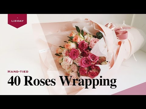 40 Roses Bouquet  * flower wrapping