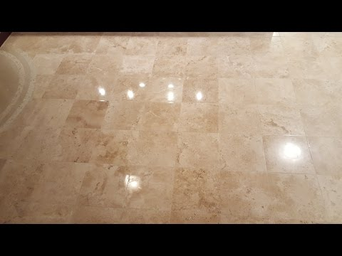 Travertine & Limestone Tile Floor Repair, Refinishing & Restoration MD-DC-VA