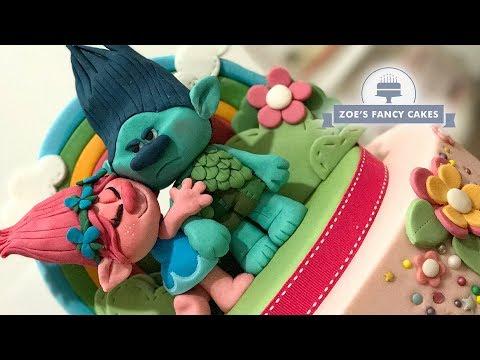 Poppy & Branch cake toppers Trolls movie