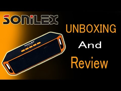 RS-500 Sonilex Bluetooth speaker unboxing and quick review in HINDI
