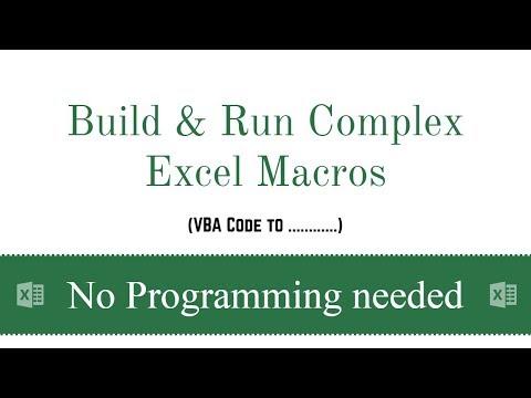Build & Run Complex Excel Macros | VBA Code to Part 1 | Excel VBA in Hindi