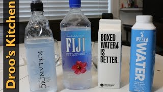 Trying Fiji, Icelandic, Boxed and Just Water(s)