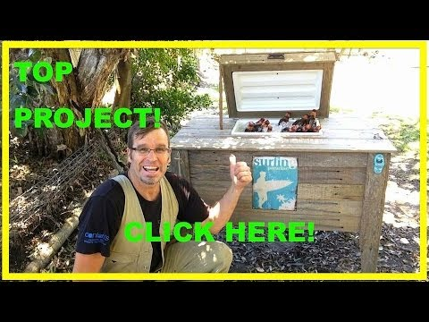 How to Build an ULTRA COOL, Rustic Cooler Box. Using recycled wood.