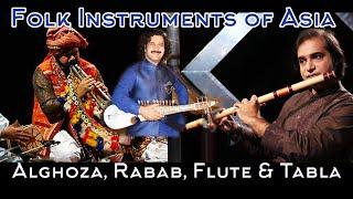 Musical Instruments of Pakistan Flute, Rubaab, Alghoza & Tabla, Sounds of Pakistan