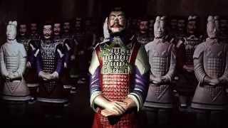 The interactive terracotta warrior at Moesgaard Museum