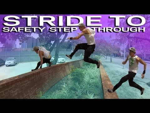Stride to Safety Step Through :Parkour Tutorial - (Jesse La Flair)