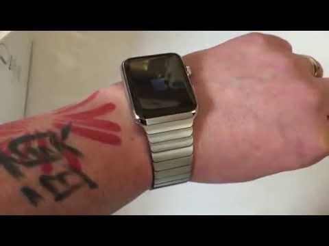 Apple Watch 42mm Stainless Steel Link Bracelet Unboxing 1st Look