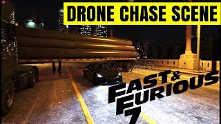 Grand Theft Auto 5  The Fast And The Furious 7  Nissan GTR R35 Drone Chase Scene