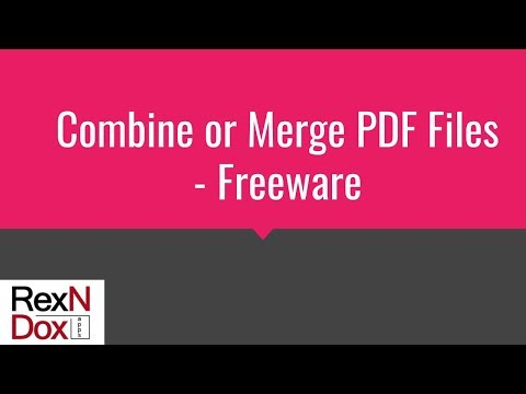 How to Combine or Merge PDF for Free