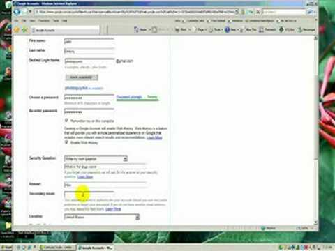 New Google Email Account Tutorial