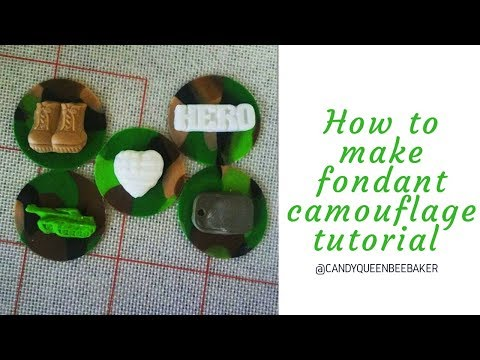 How to make Fondant Camouflage