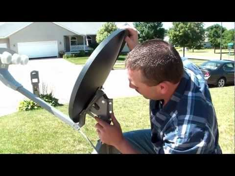 9. Pointing the Dish - TR-6100 Winegard Portable Satellite Dish & Tripod Kit
