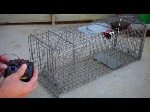Remote control cage trap