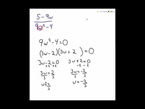 Finding domain for rational expressions