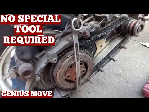 How To Remove Lambretta Scooter Clutch Without Clutch Holding Tool-Diy Ideas