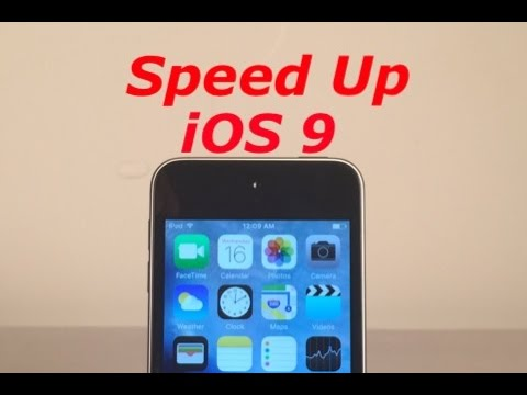 How to Speed Up iOS 9