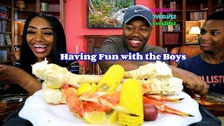 Seafood boil with the boys