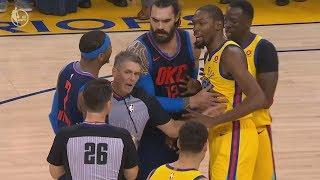 Kevin Durant vs Russell Westbrook! Carmelo Heated! 2017-18 Season